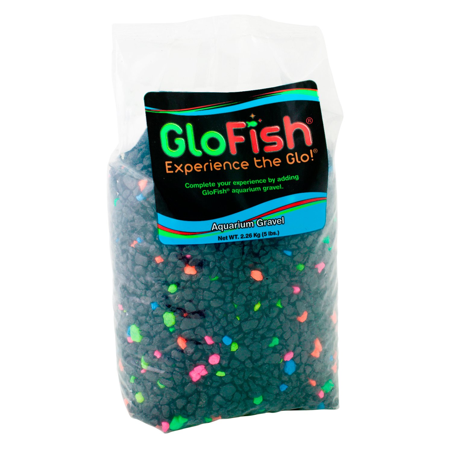 GloFish Black Multi-Color Lagoon Aquarium Gravel