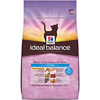 Hill's Ideal Balance Chicken and Brown Rice Kitten Food