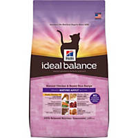 Hill's Ideal Balance Chicken and Brown Rice Mature Adult Cat Food