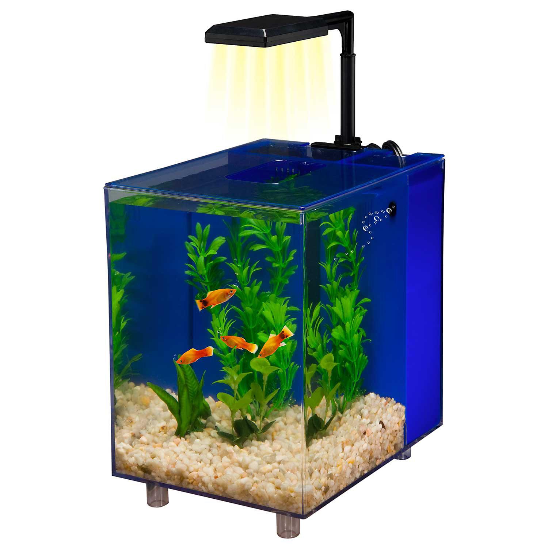 Penn Plax Prism Nano Aquarium Kit In Blue 2 Gallons