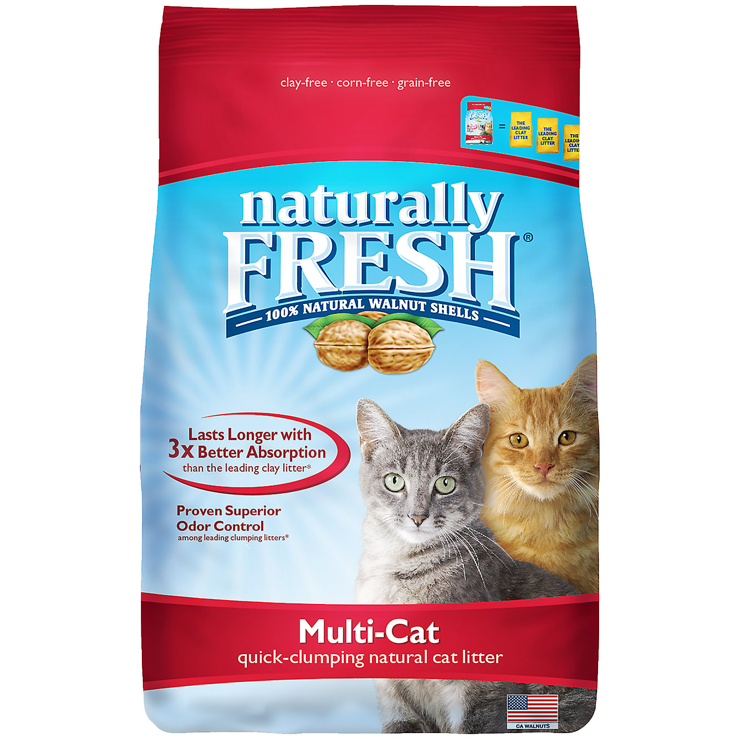 Blue Naturally Fresh Multi-Cat Clumping Cat Litter, 26 lbs.