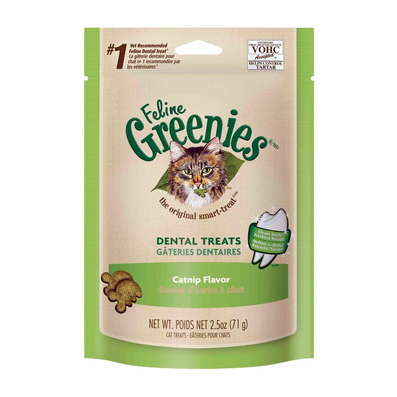 Feline Greenies Catnip Flavor Dental Cat Treat