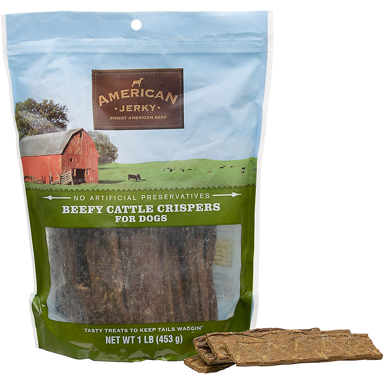 American Jerky Beefy Cattle Crispers Dog Treats