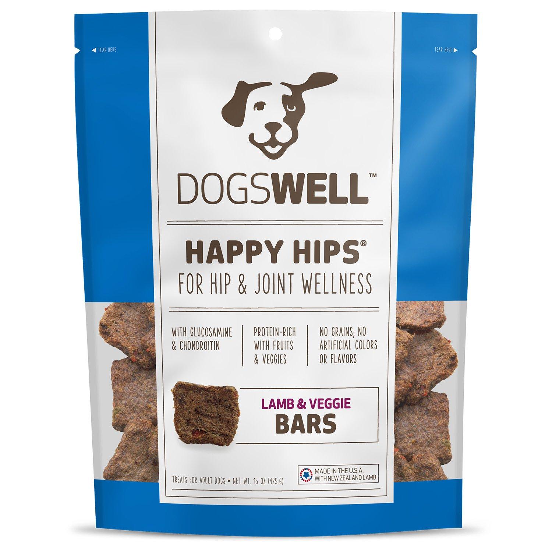 Dogswell Happy Hips Lamb & Veggie Bars Dog Treats