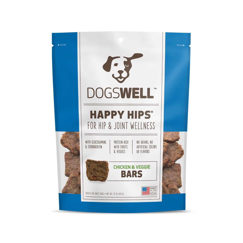 Dogswell Happy Hips Chicken & Veggie Bars Dog Treats