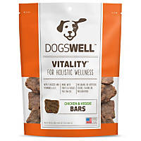 Dogswell Vitality Jerky Bars Chicken & Veggies Dog Treats