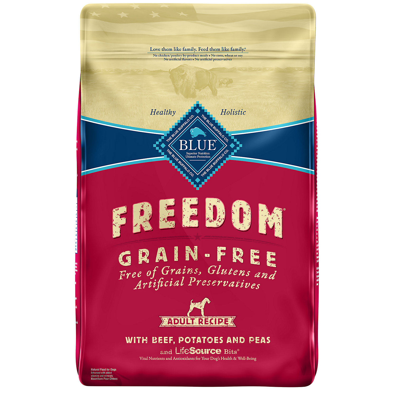 Blue Buffalo Freedom Grain Free Beef Recipe Adult Dog Food,
