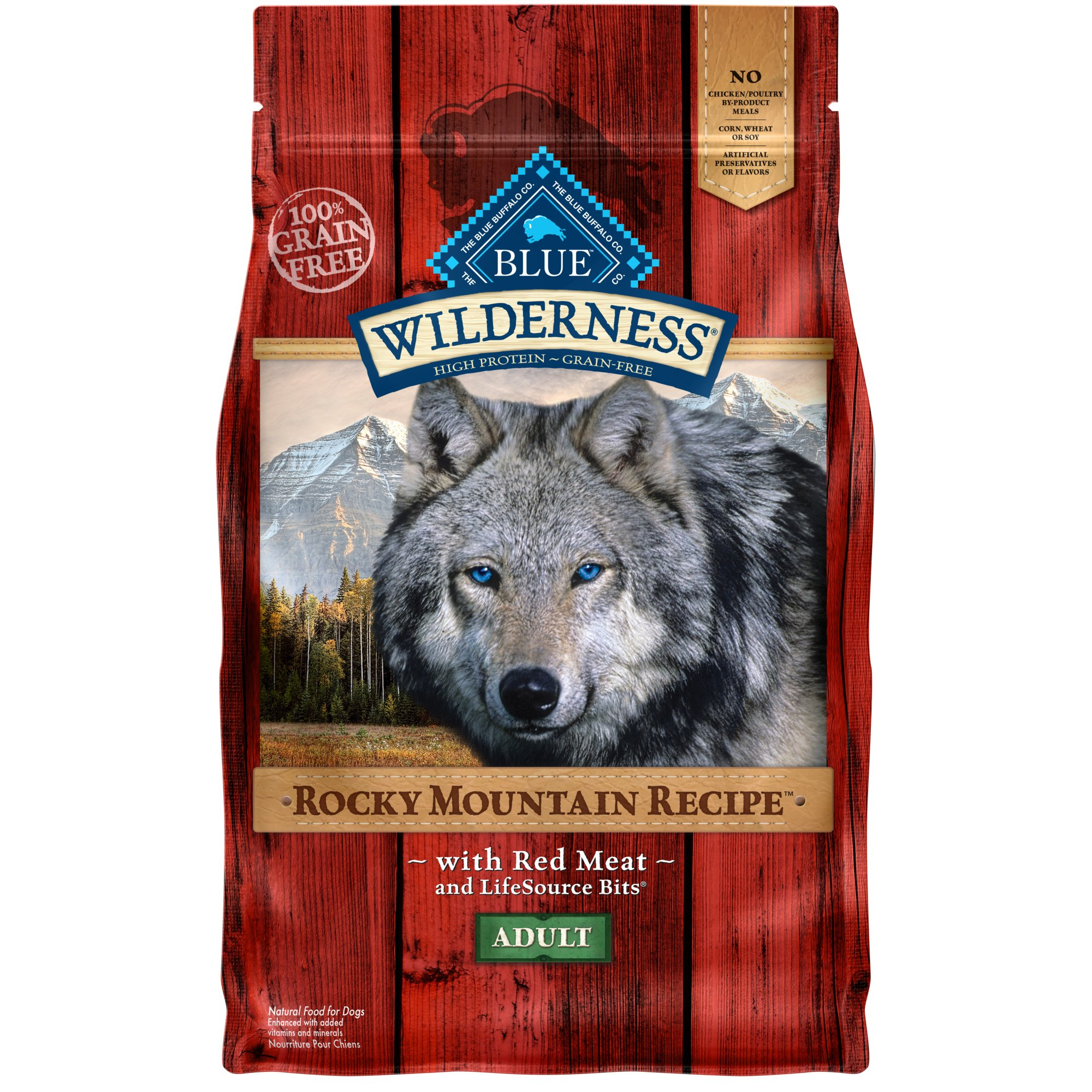 Blue Buffalo Wilderness Rocky Mountain Recipe with Red Meat Adult Dog Food