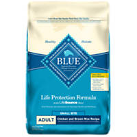 Blue Buffalo Life Protection Chicken & Brown Rice Small Bites Adult Dog Food