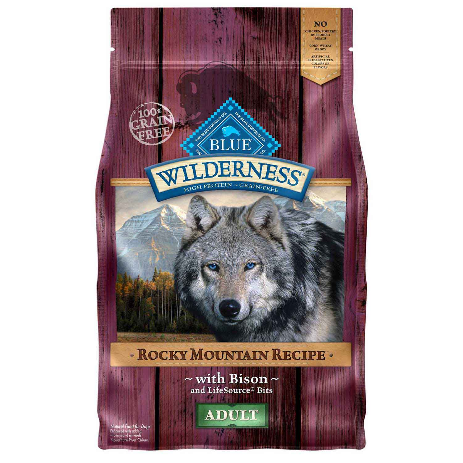Blue Buffalo Wilderness Rocky Mountain Recipe with Bison Adult Dog Food