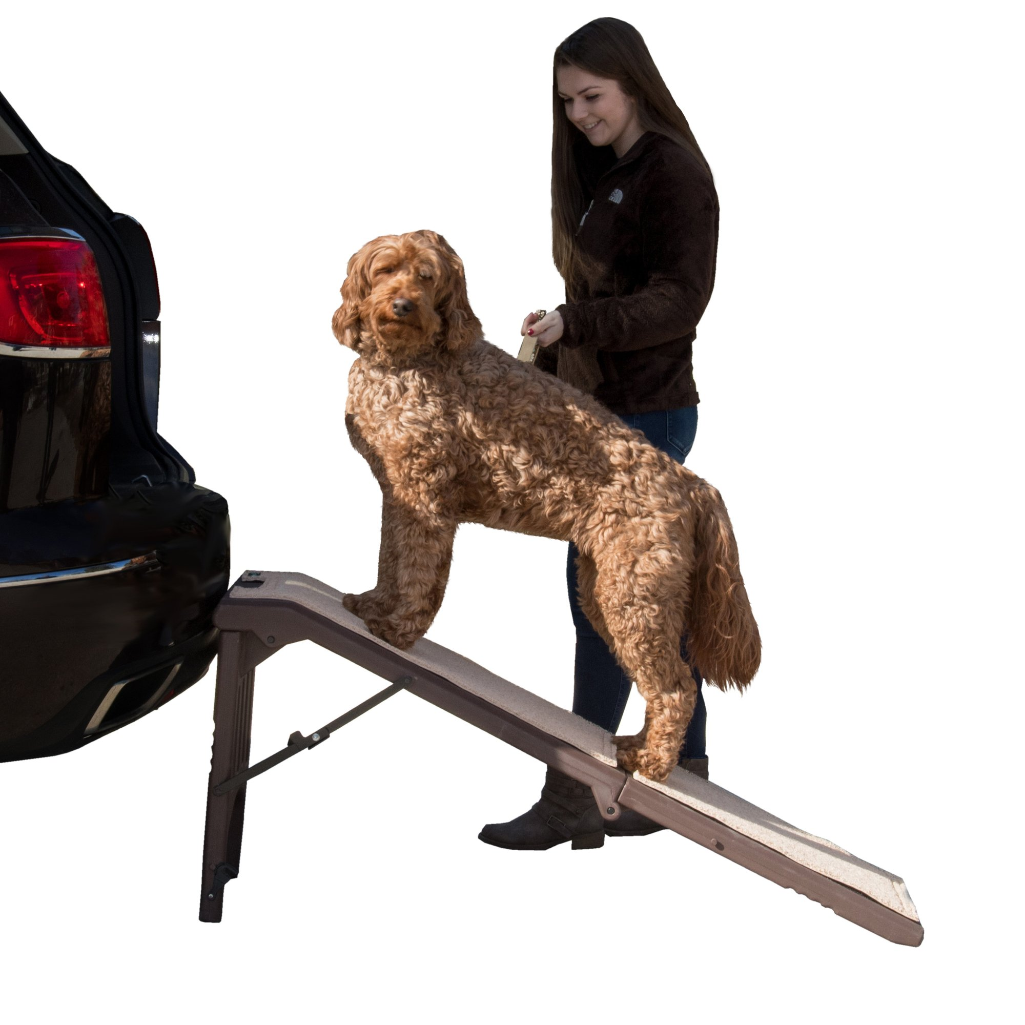 Pet Gear Free Standing Pet Ramp in Chocolate