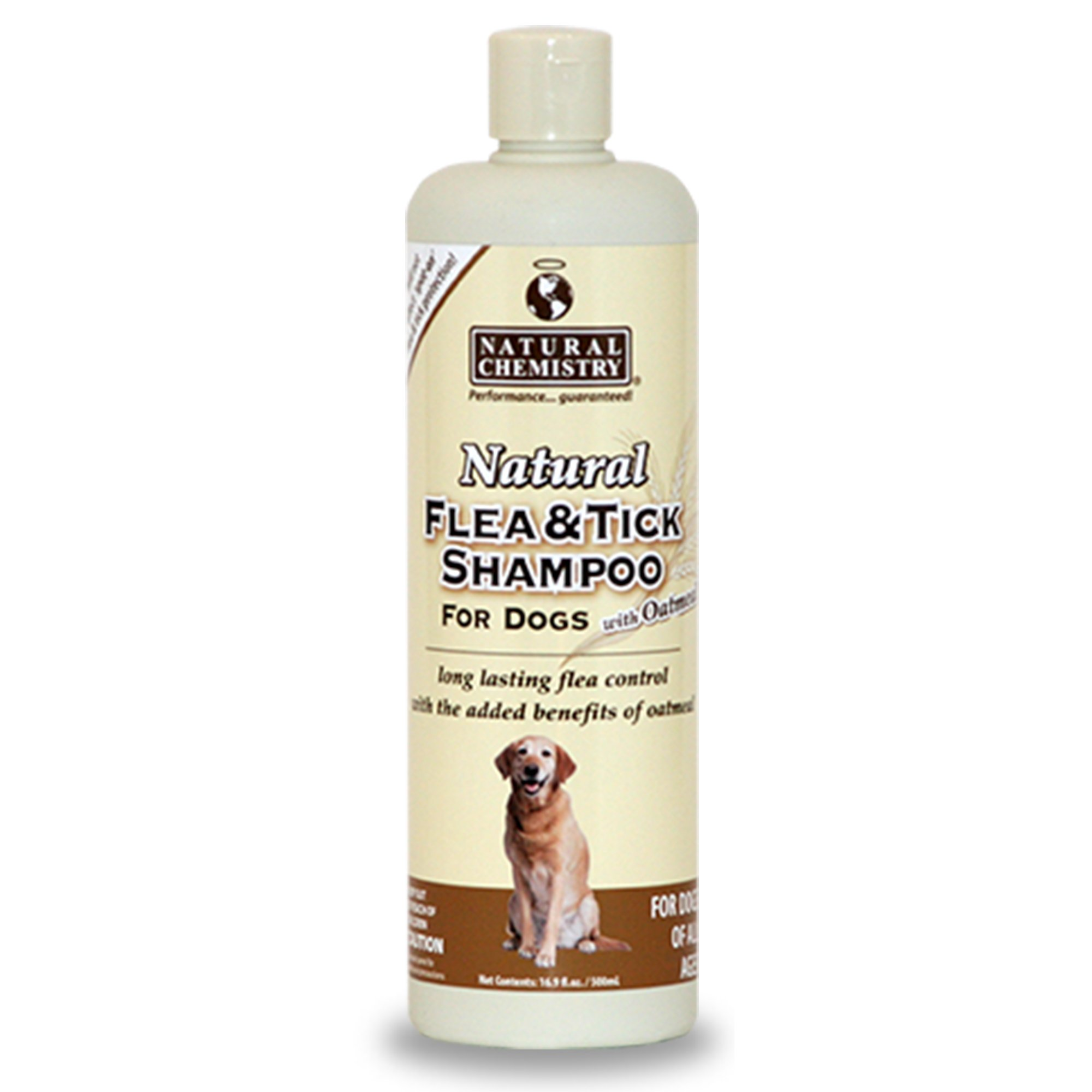 Natural Chemistry Natural Flea & Tick Shampoo with Oatmeal for Dogs