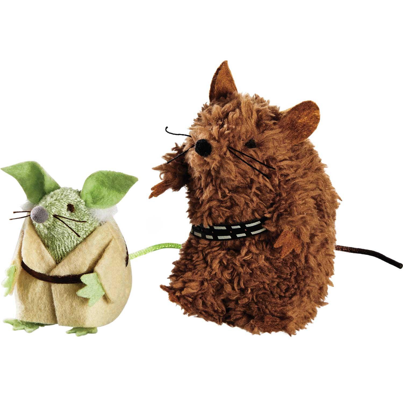 STAR WARS Yoda & Chewbacca Mice Cat Toys