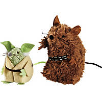 STAR WARS Yoda & Chewbacca Mice Cat Toys