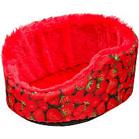 Petco Small Animal Cuddle Cup in Strawberry Print