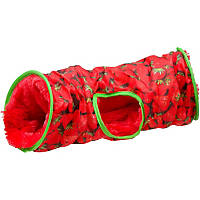 Petco Small Animal Crinkle Tunnel in Strawberry Print