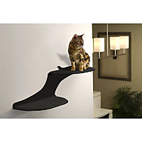 The Refined Feline Cloud Cat Shelf in Black, Right Facing