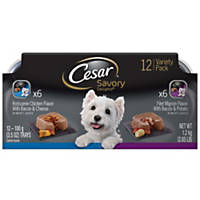 Cesar Savory Delights Rotisserie Chicken & Porterhouse Steak Variety Pack Dog Food Trays