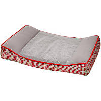 Petco Orthopedic Red & Gray Dog Bed