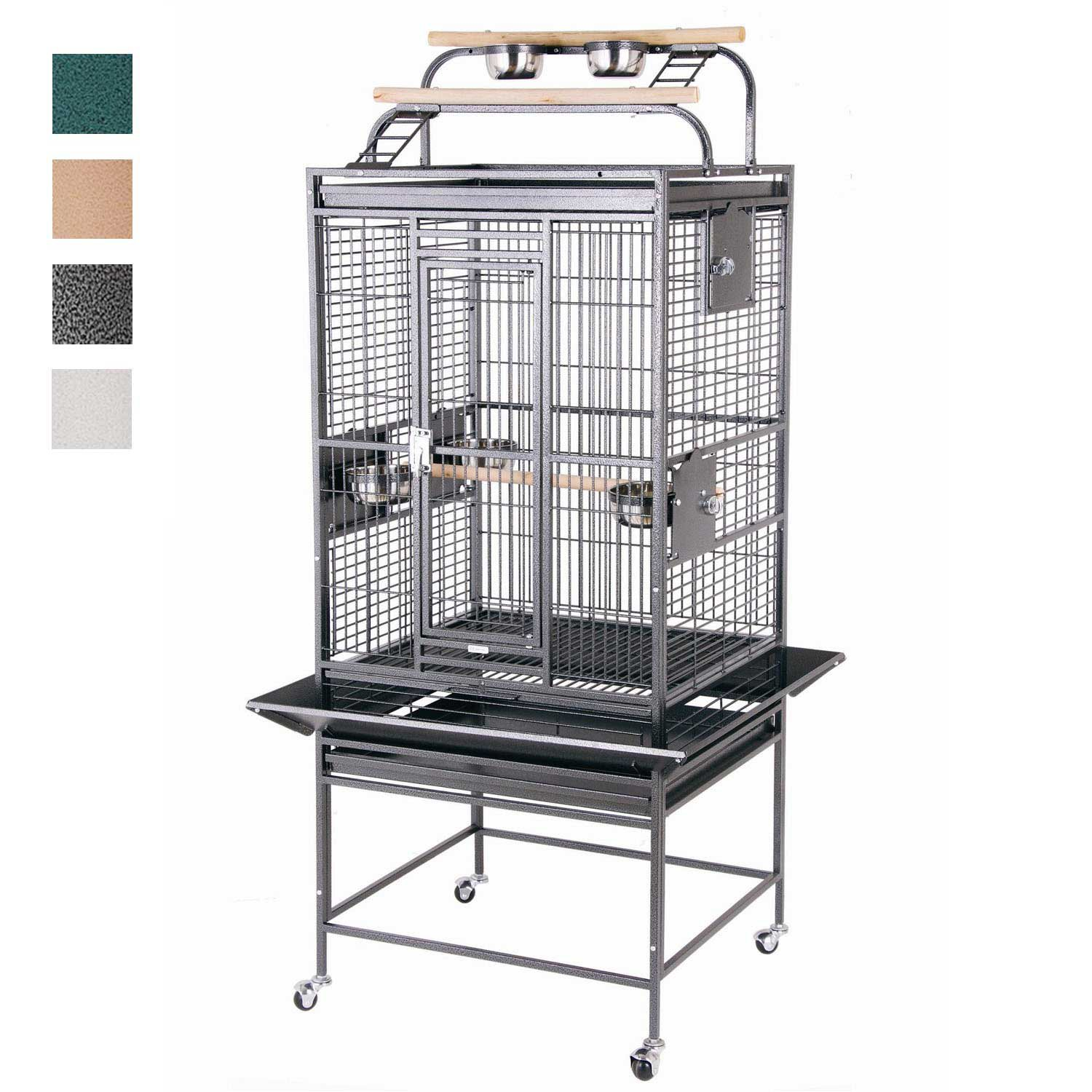 HQ Double Play Top Bird Cage in Black