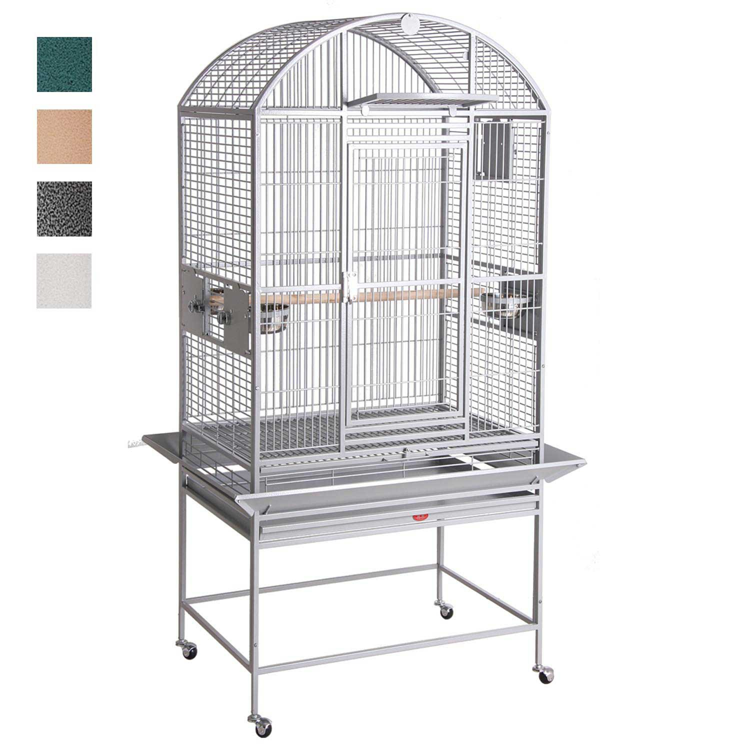 HQ Dome Top Bird Cage in Platinum