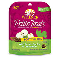 Wellness Petite Soft Mini-Bites with Lamb, Apples & Cinnamon Small Breed Dog Treats