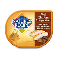 Nature's Recipe Chicken & Chicken Liver Recipe in Broth Adult Canned Cat Food