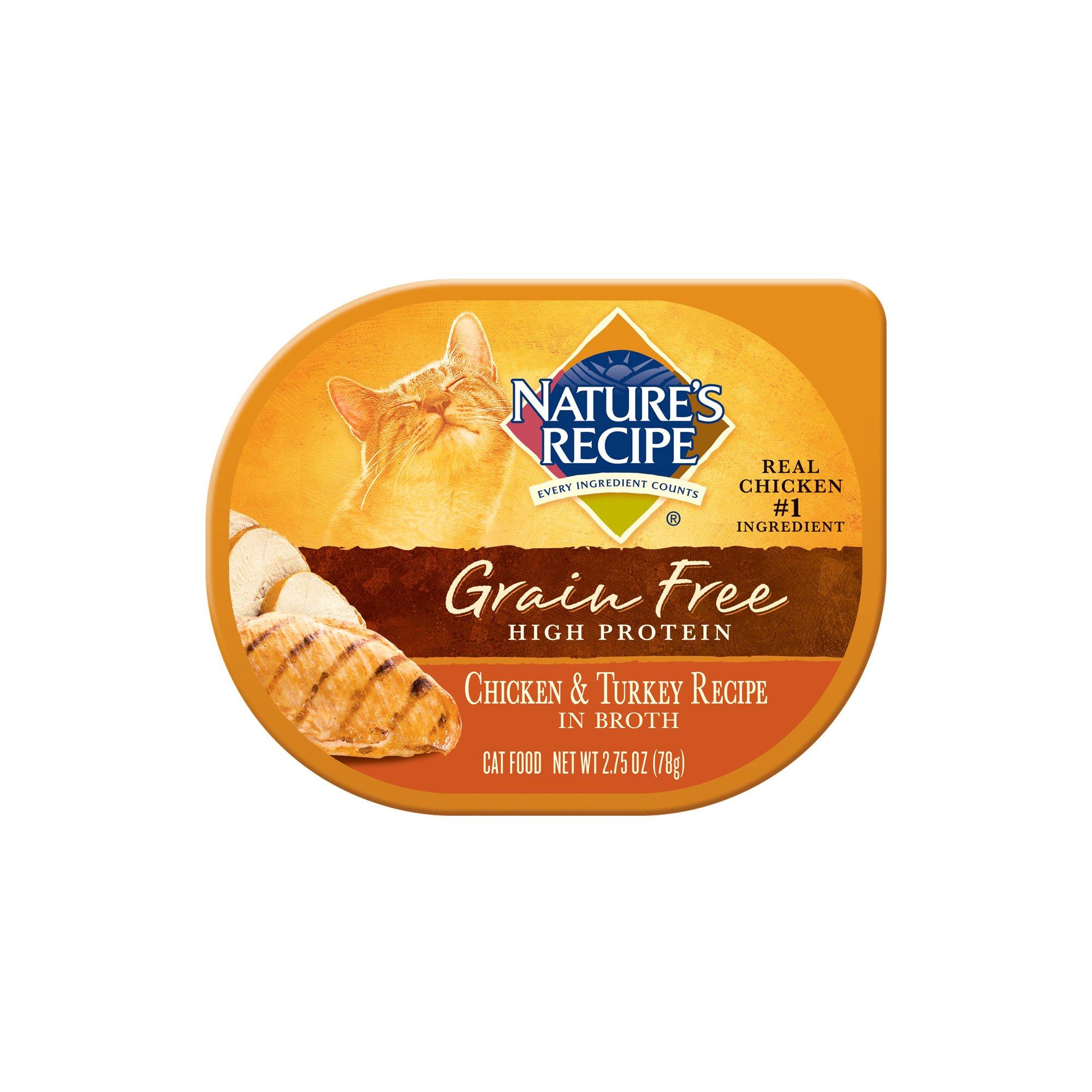 Nature's Recipe Grain Free Chicken & Turkey Adult Cat Food Trays