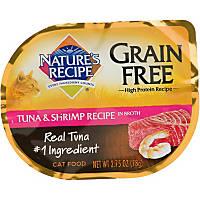 Nature's Recipe Grain Free Tuna & Shrimp Adult Cat Food Trays