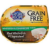 Nature's Recipe Grain Free Whitefish & Crab Adult Cat Food Trays