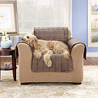 Sure Fit Deluxe Chair Throw Cover in Sable