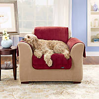 Sure Fit Deluxe Chair Throw Cover in Burgundy