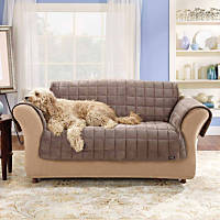 Sure Fit Deluxe Sofa Throw Cover in Sable