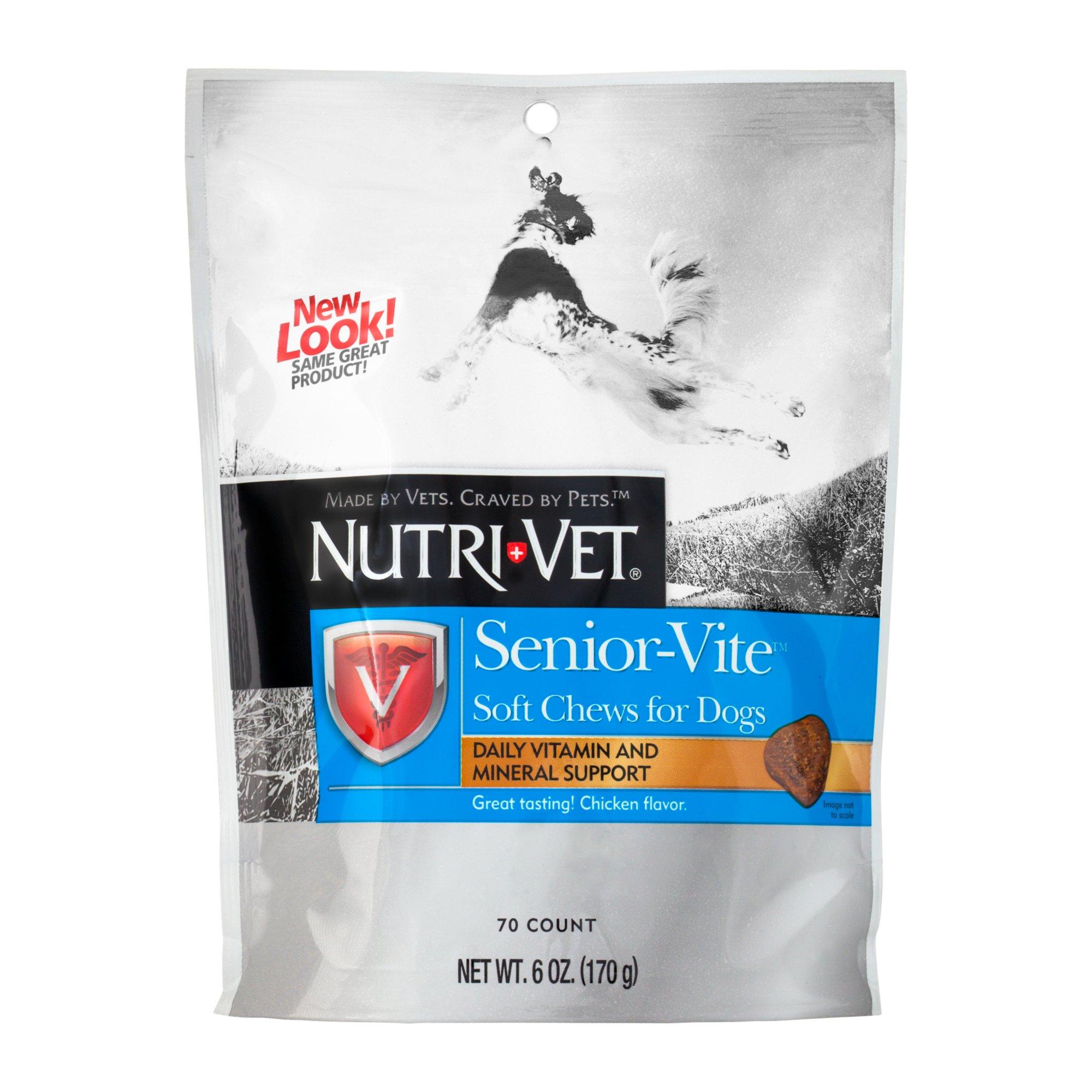 Nutri-Vet Senior-Vite Daily Soft Chew Dog Vitamins