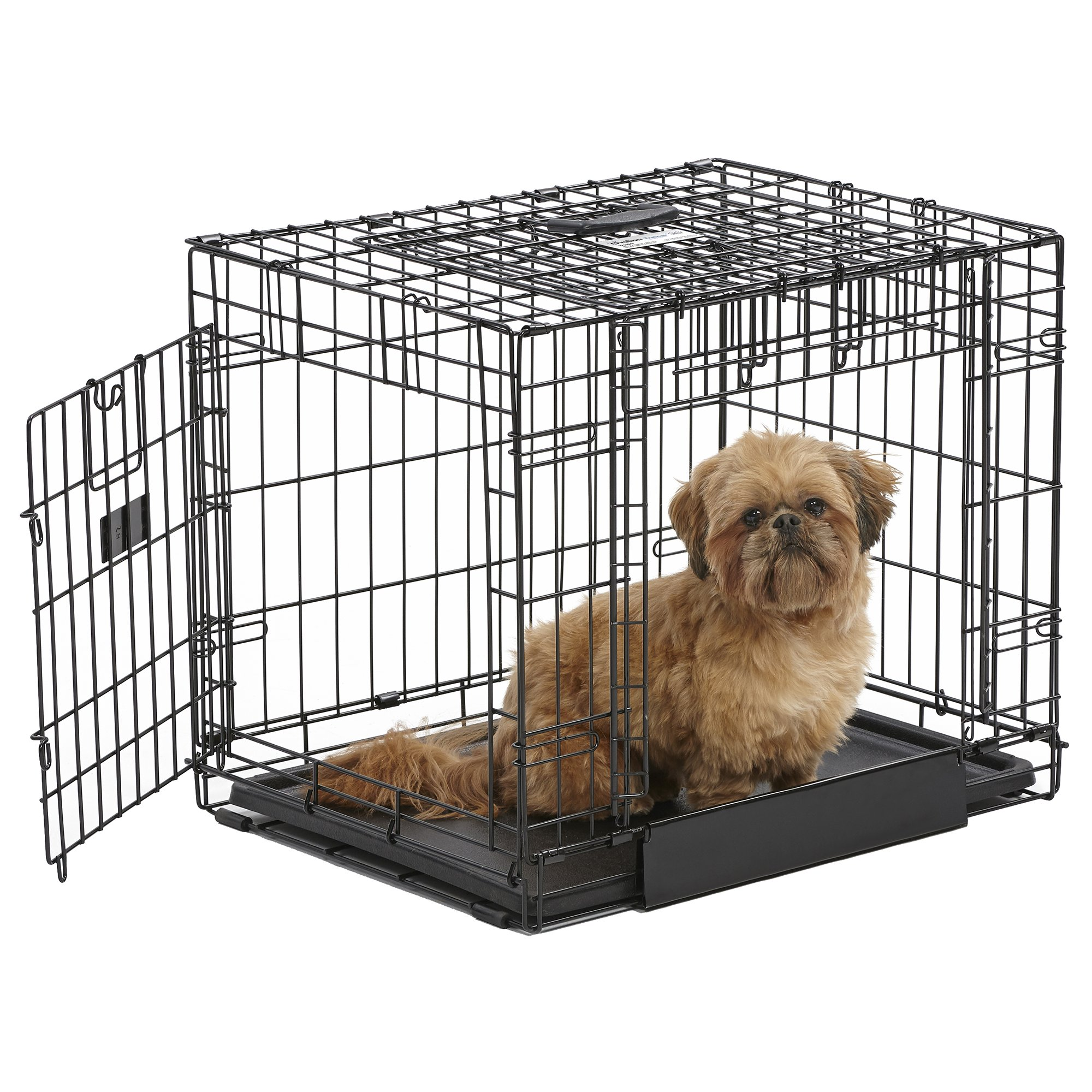 Midwest ovation trainer double door dog crate petco for Double door with dog door