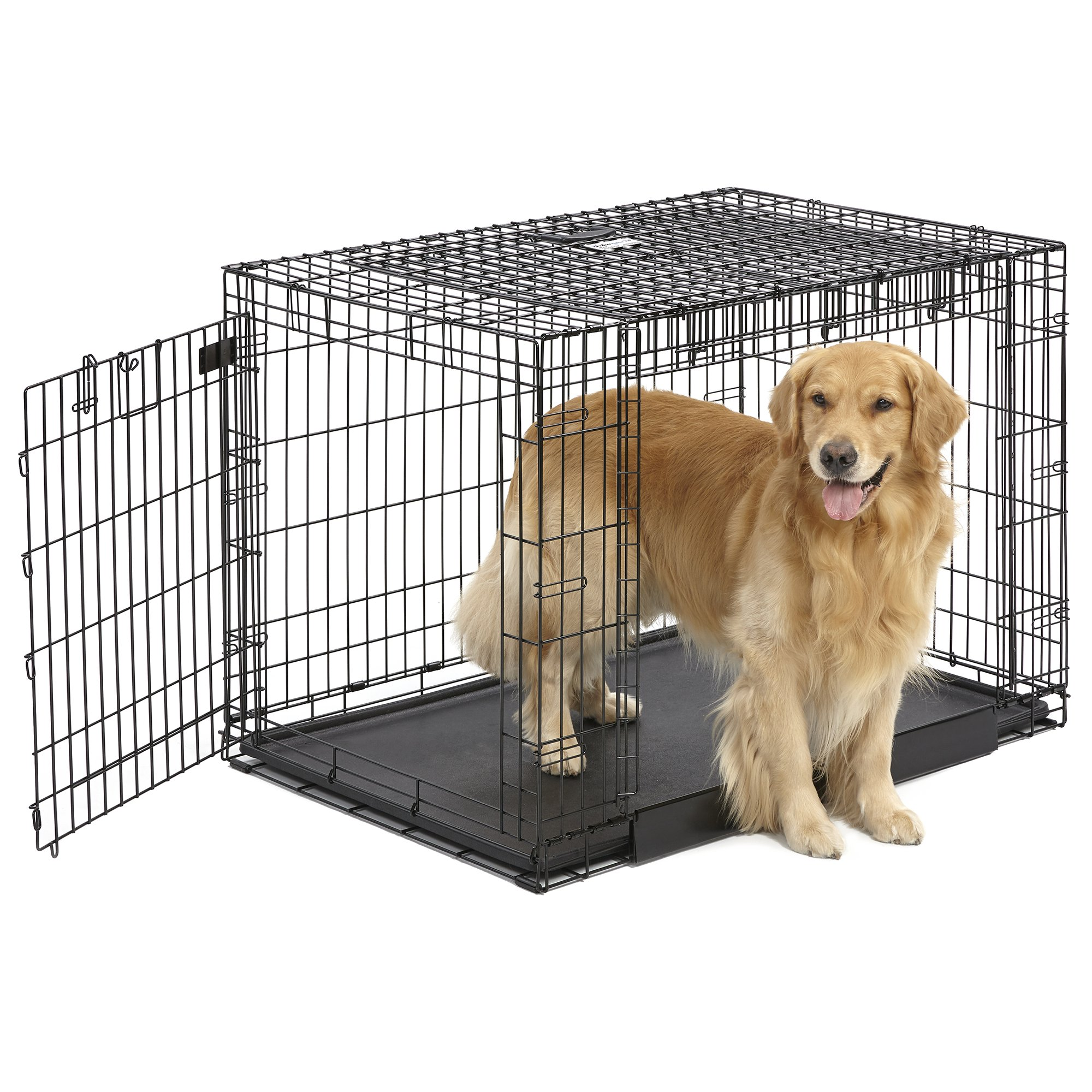 Midwest ovation trainer double door dog crate petco store for Double door with dog door