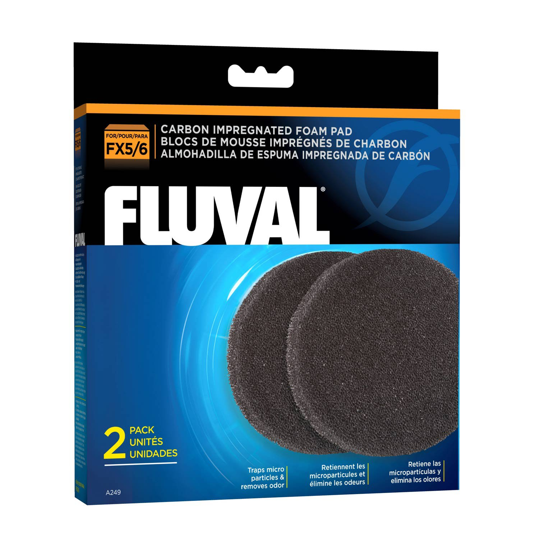 Fluval FX5/FX6 Carbon Impregnated Foam Pads