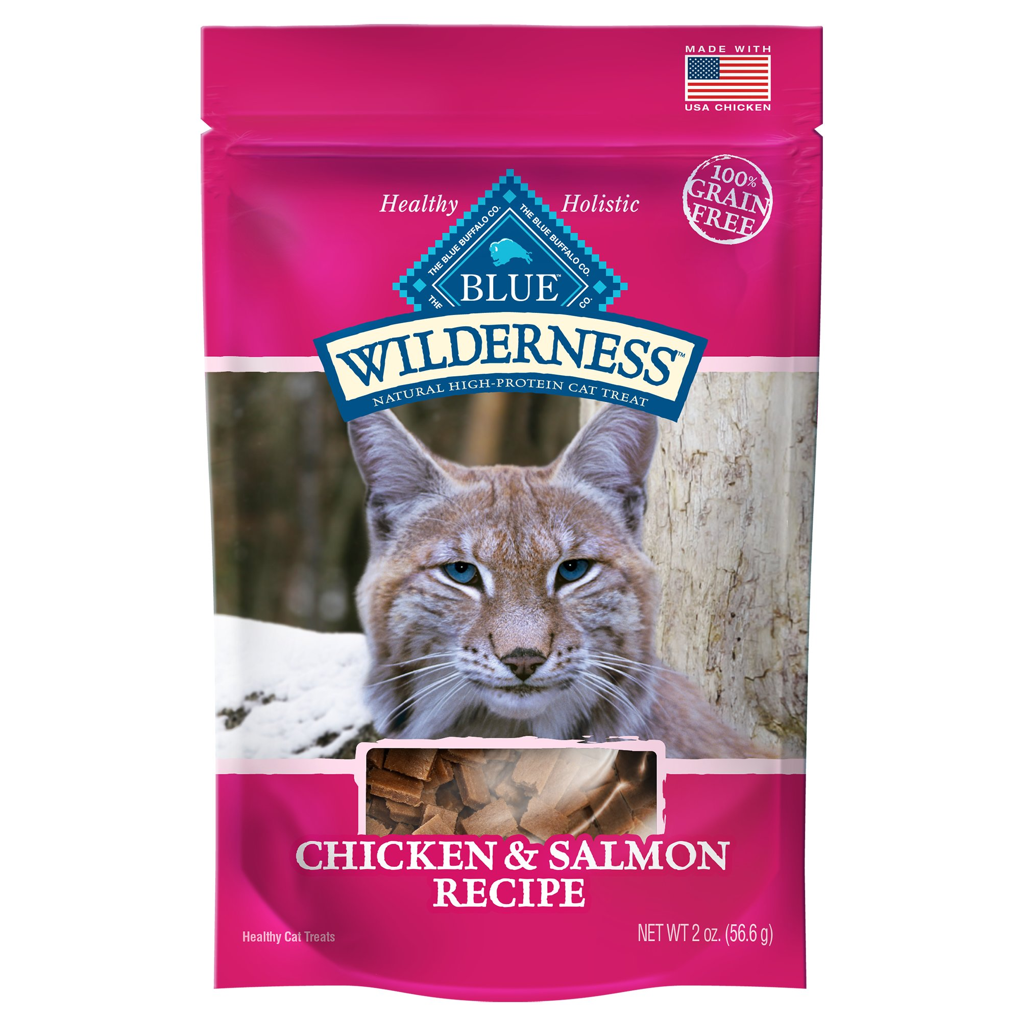 Blue Buffalo Wilderness Chicken & Salmon Grain Free Cat Treats