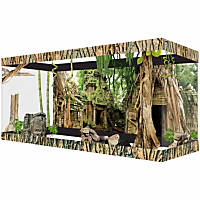 Habitat Wraps Jungle Ruins Reusable Glass Tank Background