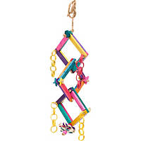 Fetch-It Pets Polly Wanna Block Party Bird Toy