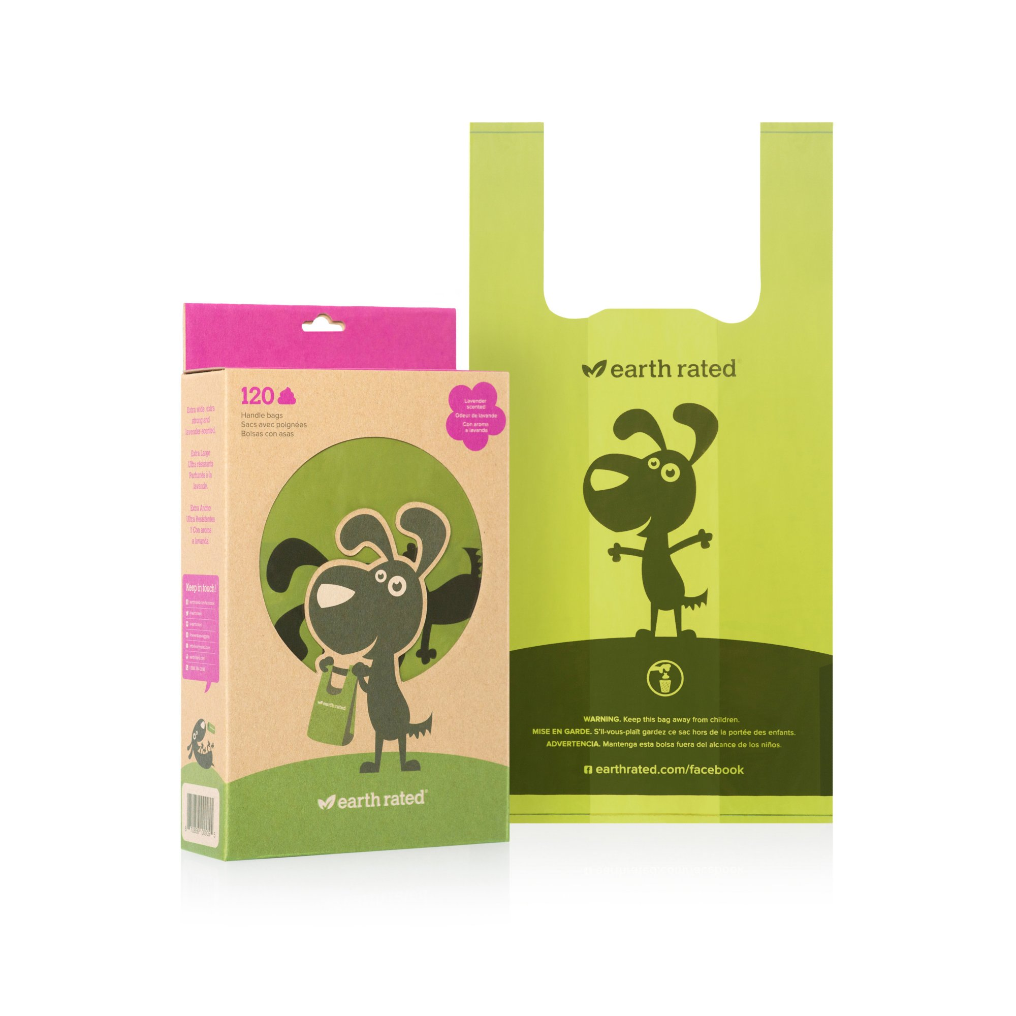 Earth Rated PoopBags Scented Handle-Tie Dog Waste Bags