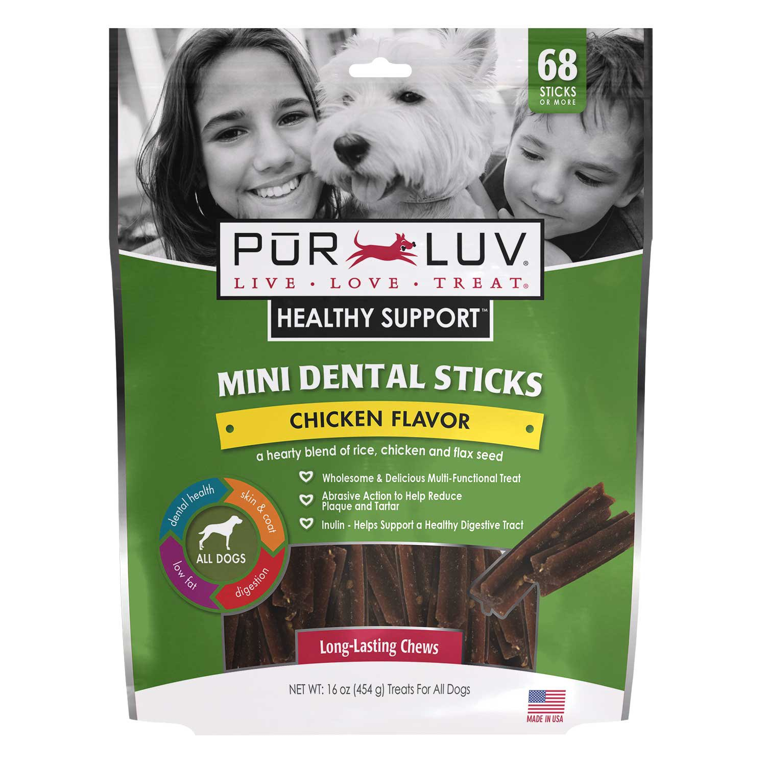 Pur Luv Mini Dental Sticks for Dogs