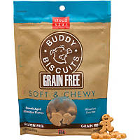 Cloud Star Buddy Biscuits Grain Free Soft & Chewy Cheddar Dog Treats