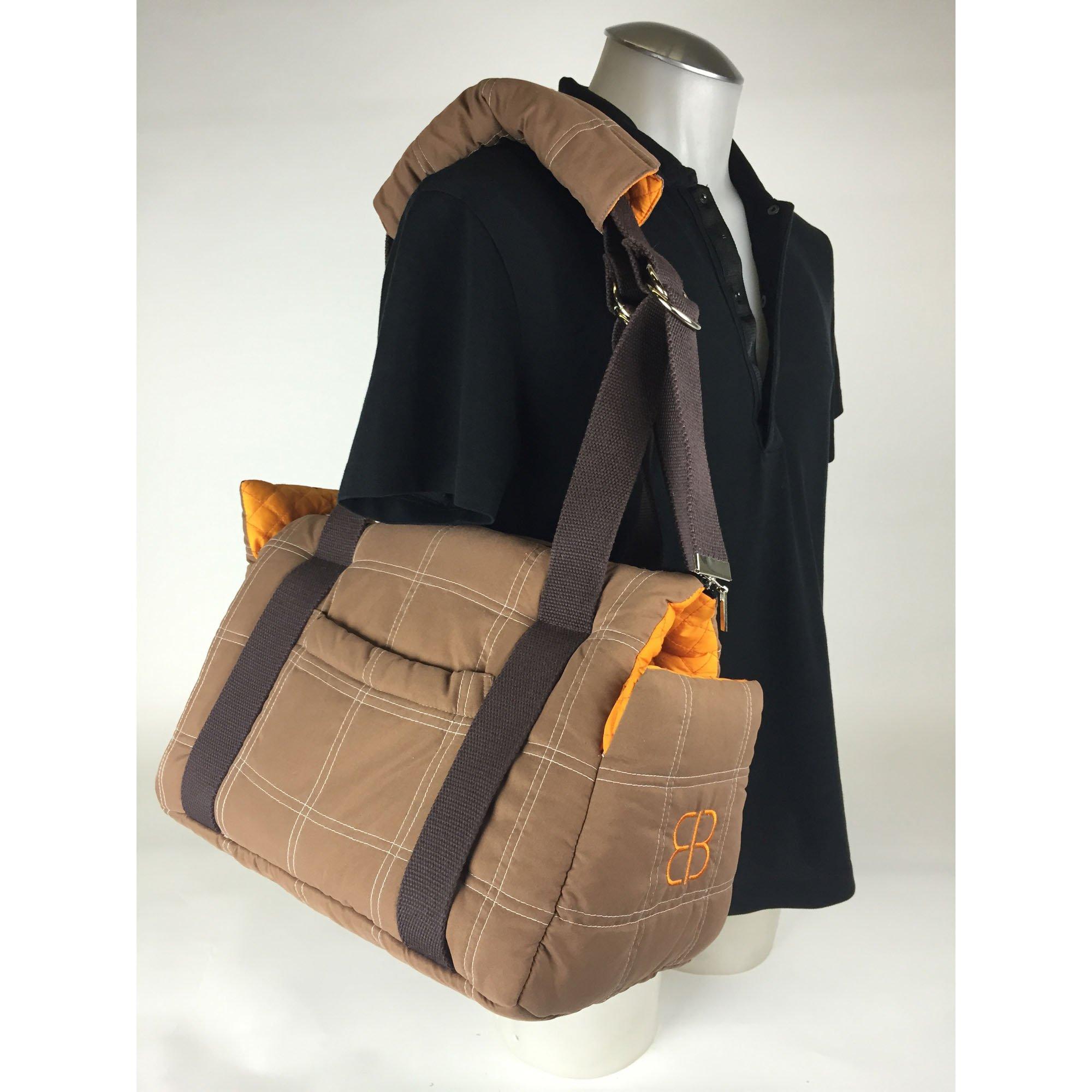 Pet Ego Bitty Bag Brown & Orange Pet Carrier