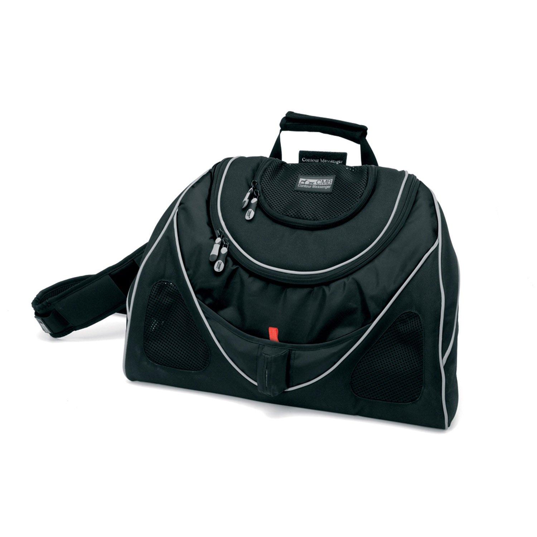 Pet Ego Contour Messenger Bag Pet Carrier in Black
