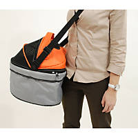 Pet Ego Pod iLove Pet Carrier in Orange & Silver