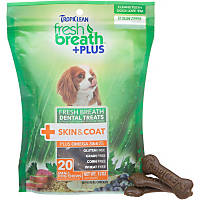 TropiClean Fresh Breath Plus Skin & Coat Dental Dog Chews
