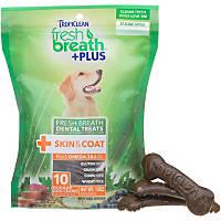 TropiClean Fresh Breath Plus Skin & Coat Dental Dog Chews