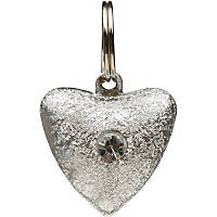Petco Fancy Silver Heart Cat Collar Charm