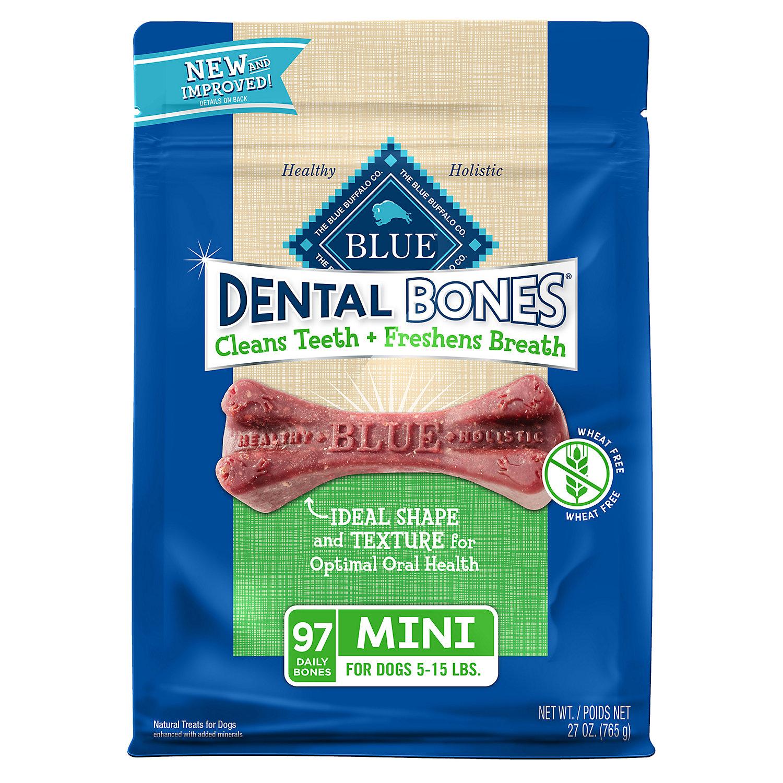 Blue Buffalo Mini Blue Bones Natural Dog Dental Chews, 27 oz